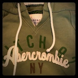 Abercrombie & Fitch hooded small green sweatshirt